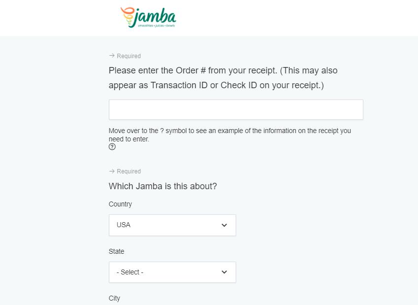 jambajuice.com survey
